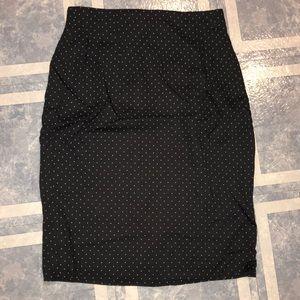 {Ann Taylor} Polka Dot Pencil Skirt